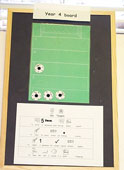 Year 4 target board with footballs